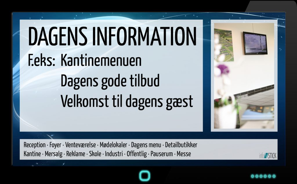 Eksempel på InfoSkærme